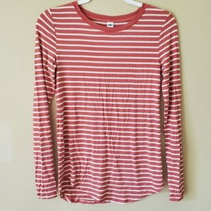 Old Navy Luxe Striped Long Sleeve T-shirt Size XS